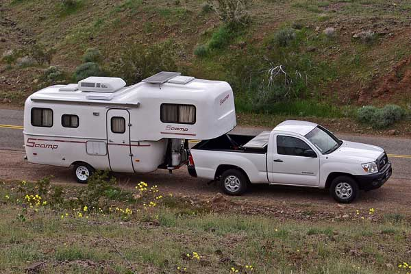 tow vehicle for scamp 5th wheel fiberglass rv - Small 5th Wheel Trailers